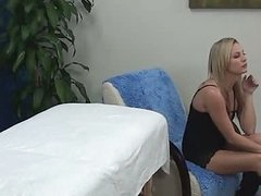 Hot Blonde Massage Girl Fucks Client