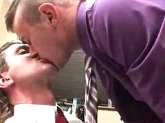 Gay cock sucking in office