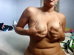 Cute chubby girlfriend makes a porn tape for her boyfriend by dancing her curvy body around for the cam and playing with herself. She bends over to give a private look at her cunt and asshole.