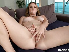 beautiful blonde sucking a hard dick after she's fingered