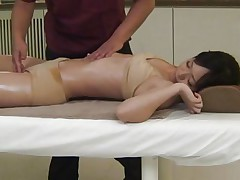 Its really appealing to see such a beautiful babe taking massage in front of the eyes. Her sexy and attractive body will definitely make your dick. The same is going with this guy and after giving a nice fingering and pussy rubbing he is pushing his big dick in this bitch's pussy right from behind.
