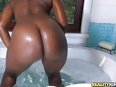 ebony slut with big sexy ass loves a big hard white dick