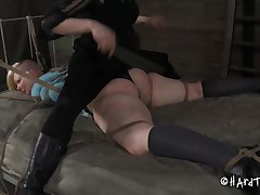 blonde punk whore being disciplined