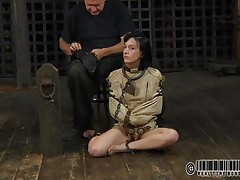 brunette whore waits for her punishments
