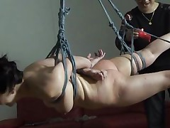 pretty and tied up this babe accepts her fate