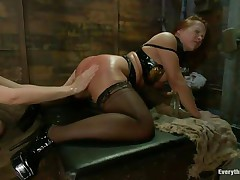 two ladies with perfect asses having a kinky lesbo love