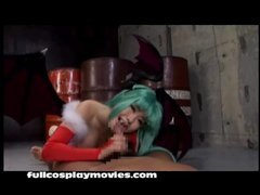 Darkstalkers Morrigan Cosplay Blowjob