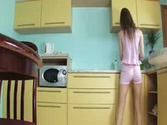 luxury toying muff in the kitchen