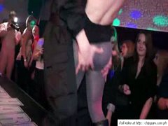 Lustful women relax on dance night party