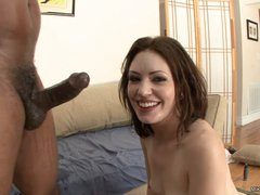 Sarah Shevon acquires her face sprayed with hot jizz