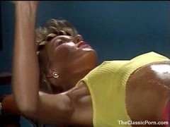 Fucking an 80s gym girl in retro movie