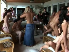Hot summer party with an fuckfest of sucking and fucking