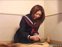 Hot Nanako Hatsushima kinky handjob