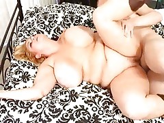 Chunky babe Samantha 38G has her plump pussy drilled