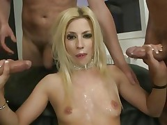Blistering Jessie Volt gets sprayed with warm cum