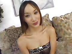 Asian Katsumi is gangbanged by a group of hot dicks