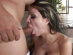 Danielle Derek mouth fucks a stiff skin flute