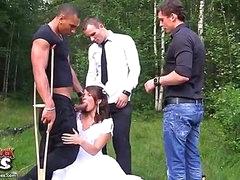 Rough anal fucking at wedding orgy