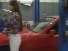 German teen fucks the mechanic to afford her car's repairs