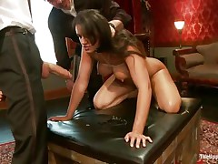 brunette slut gets fucked but wants to suck
