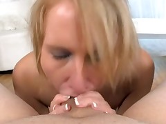 Sexy sweetheart is charming dude with wicked oral job