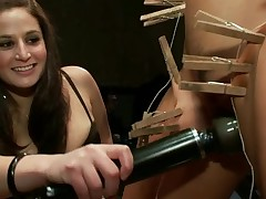 Slutty sex serf acquires a nasty public punishment