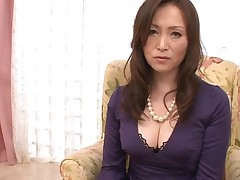 Dude stimulates Japanese honey in nylons with a sex toy