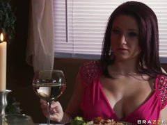 Spectacular Brunette Charity Bangs Gets Screwed and Jizzed On Her Jugs