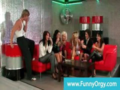 Fancy rich girls night out gets naughty