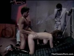 Horny girl in collar and leash fucked hard