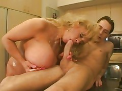 Busty Echo Valley spreads her lips around this cock