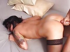 Hottie Katrina Kravin gets her ass splattered with cum