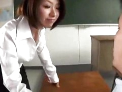 Teacher Giving Blowjob For Her Student In The Classroom