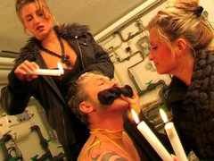 Sexual Slave Get Wax Treatment