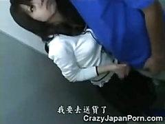 Asian Teen Jizzed in WC!