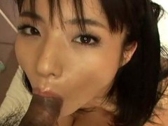 Hawt Oriental cutie goes down on dude's dick previous to getting cunt drilled