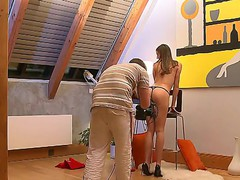 Two amazing teens posing on camera completely naked featuring Eufrat Mai and Silvia Saint