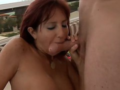 Levi Cash pounding hard Tara Holidays throat, this babe sucks great and gets thanked by ass and cunt lick and fuck!