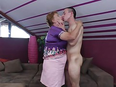 Elisia is a chubby mature whore that needs some love from her boy. She approach him and the begin to kiss passionately and get naked. soon Elisia finds herself under her guy and he squeezes her big soft love muffins during the time that kissing them. Will Elisia receive a few loads of jizz in her pussy or on her boobs?