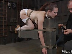 sexy body bitch tied and vibrator fucked