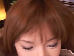 Cute Oriental hottie widens her legs on camera showing off her underware