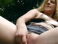 Fun with German chick in the woods