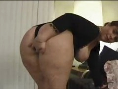 Fat ass honey teases the camera solo