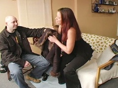 Horny hubby doesn't desire to acquire busted banging the daughter