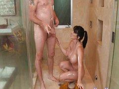 A lucky client receives a full service massage