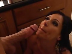 Kendra Lust gets her face doused with hot dong juice