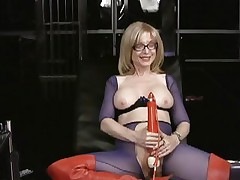 Nina Hartley loves tormenting her juicy moist slot