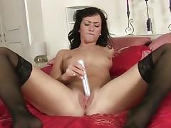 Tess Lyndon toy fucks her soaking wet snatch