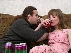Feed her drinks and pecker