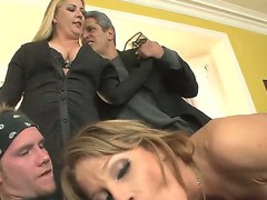 This is hot threesome fuck video with Herschal Savage, Nikki Sexx and Sonny Hicks, guys got the girl between them and fucking her in two holes at the same time!